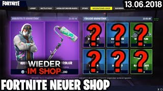 FORTNITE SHOP from 13.6 - ABSTRAKT SKIN back IN SHOP! 🛒 Fortnite Battle Royale Shop (13 June 2018)