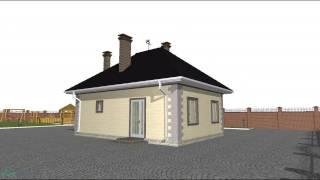 Проект маленького одноэтажного дома  A-059-ТП
