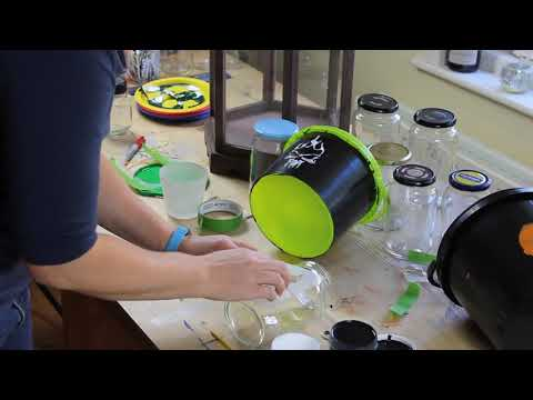 Painting stencils outlines tips with Thorndown Peelable Glass Paint