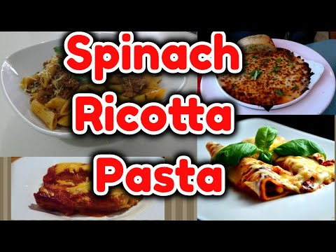 How To Make Easy Spinach Ricotta Pasta | Spinach Pasta Recipe