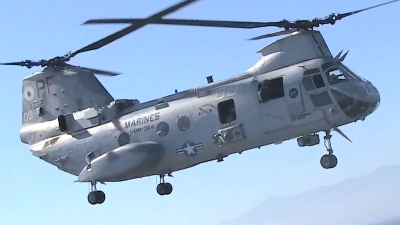 U.S Marines • CH-46 Sea Knight on its Way to Retirement