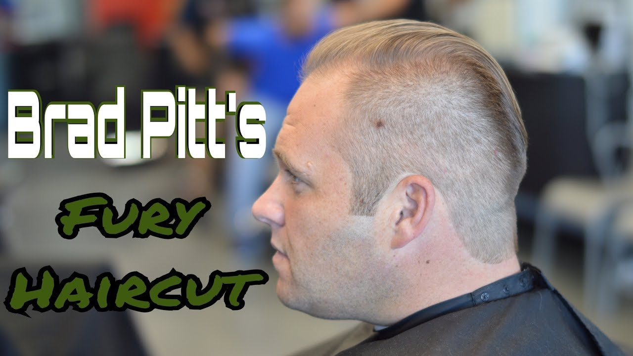 Brad Pitts Fury Haircut Youtube