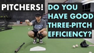 Three Pitch Efficiency In Baseball - Pitching Strategy and Tactics