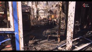 На проспекте Науки сгорело кафе возле метро - 06.04.2020