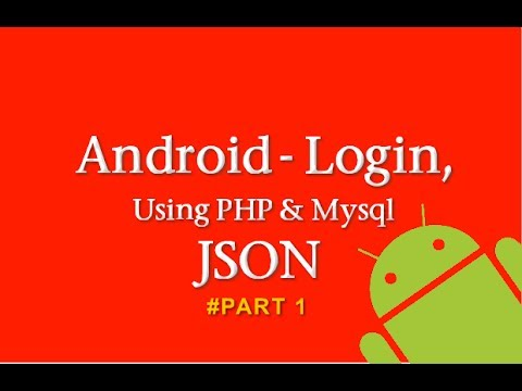 Android Login using PHP & MYSQL #Part1