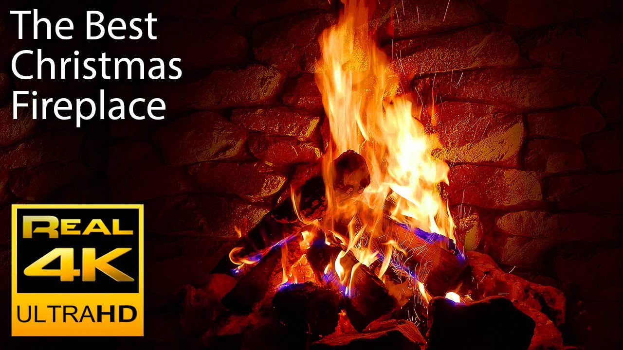 The Most Beautiful Christmas Music & Relaxing Fireplace with Crackling Fire Sounds in 4k UHD. Helps Relax & Fall Asleep FAST! 2 hour long. Music for relaxati...