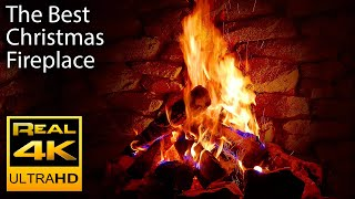 Repeat youtube video 4K Relaxing Fireplace & The Best Instrumental Christmas Music & Crackling Fire Sounds 🔥 UHD 2 Hours