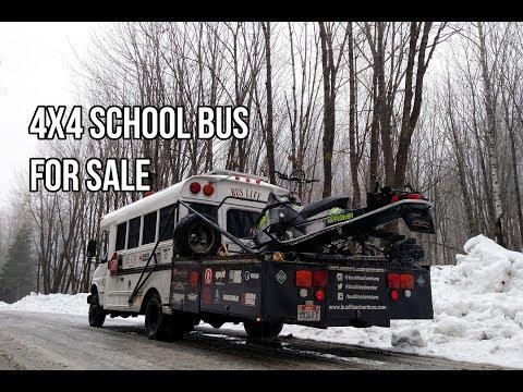 4x4 Short School Bus Conversion For Sale - YouTube