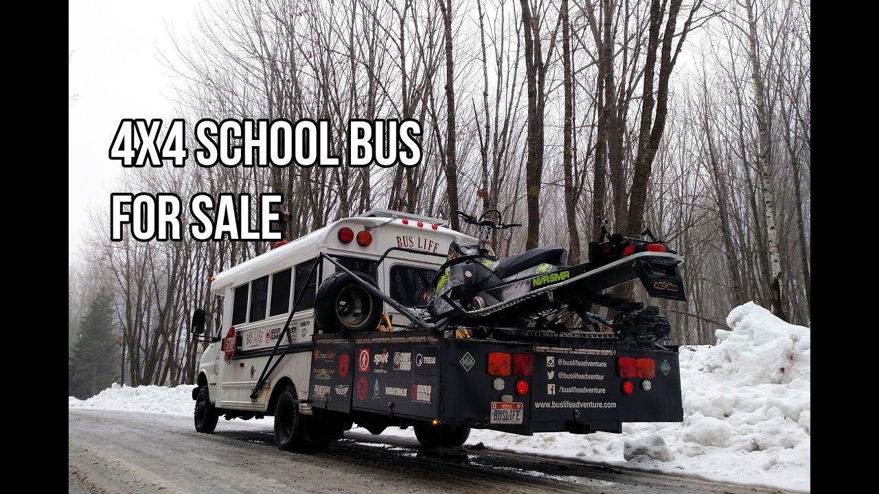 4x4 Short School Bus Conversion For Sale