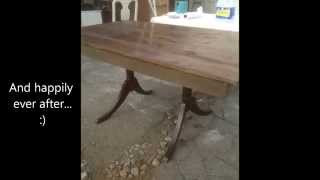 How To Make A Farm Table From An Old Drop Leaf Table.