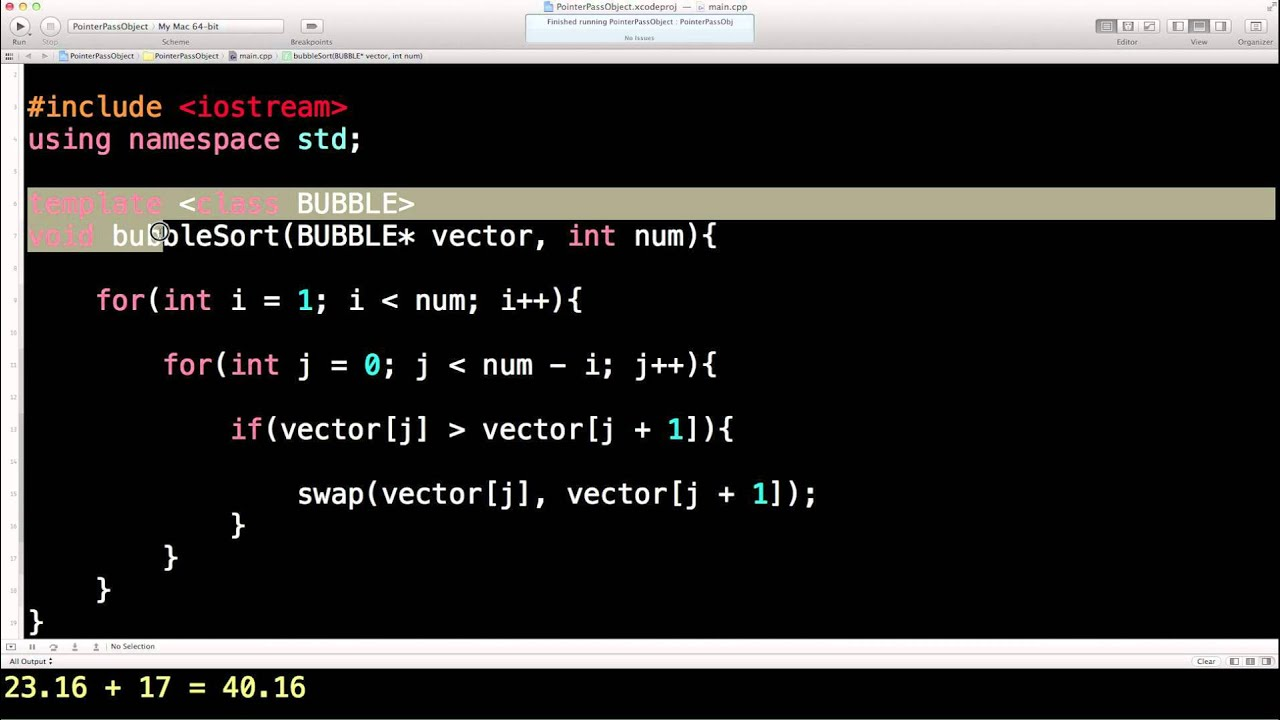 Learn Finance C++, Lesson 43, Function template example, Bubble sort ...