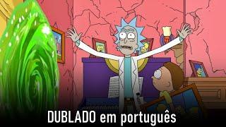 Rick e Morty destroem a família Simpson | Os Simpsons (DUBLADO)