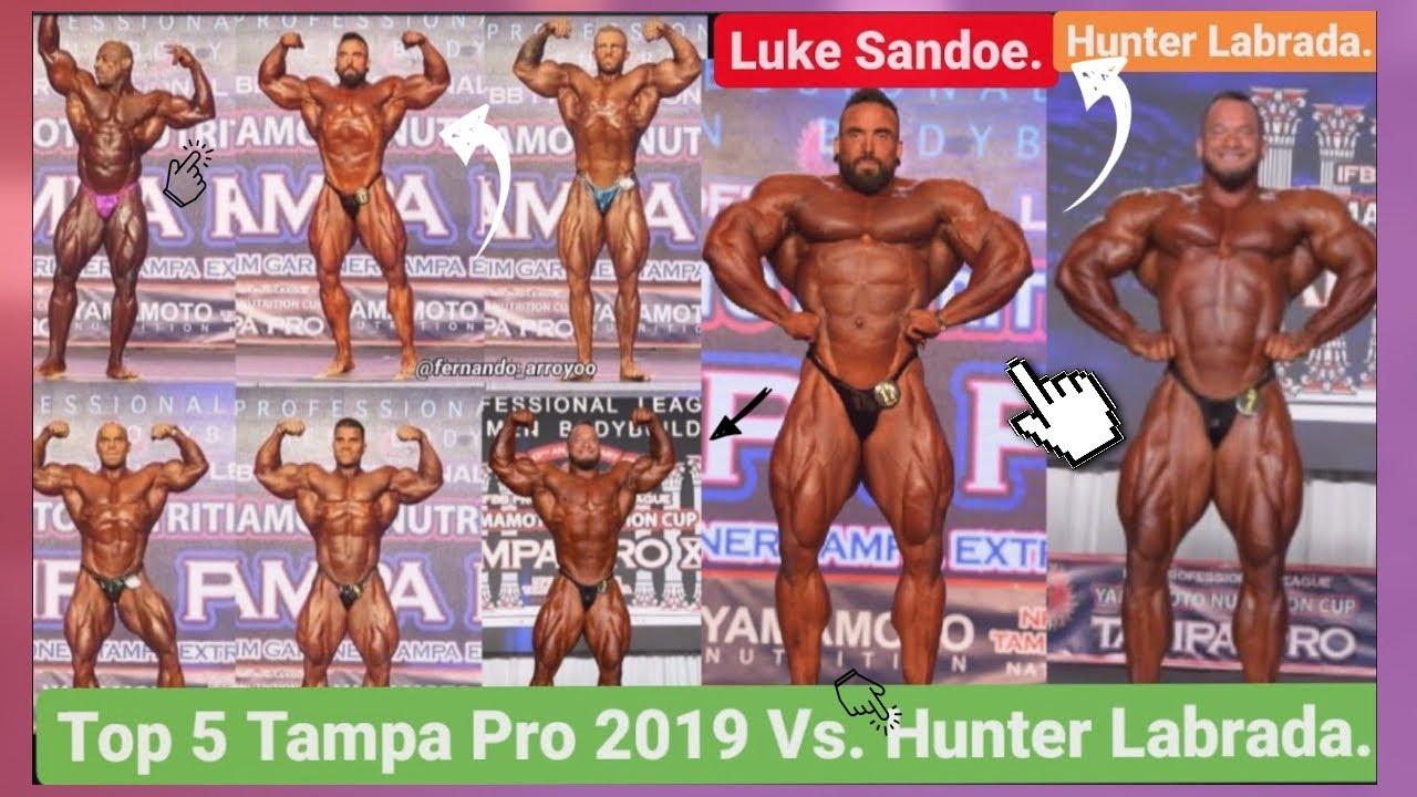 Top 5 Tampa Pro 2019 Vs. Hunter Labrada ¿Que puesto haría Hunter enfrentando a estos Culturistas?