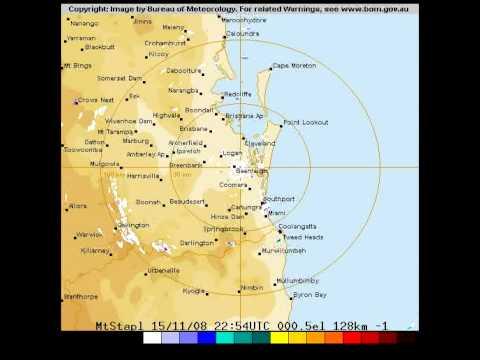 Brisbane Weather Radar Single Day 2008 11 16 Youtube