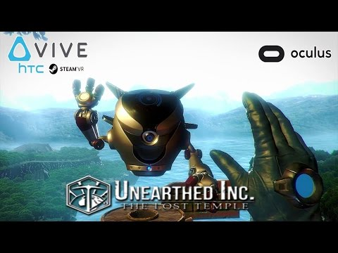 BEAUTIFUL VIRTUAL REALITY PUZZLER! Unearthed Inc  The Lost Temple HTC Vive Gameplay