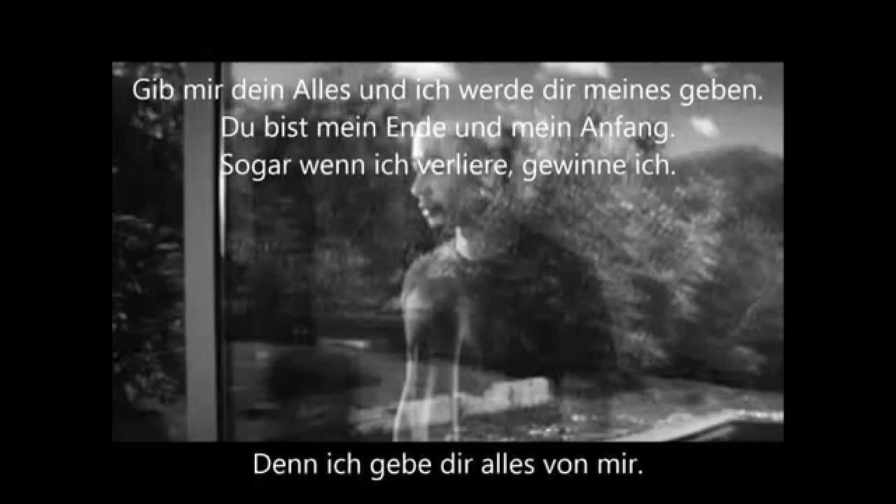 John legend all of me lyrics deutsch
