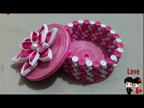 #3Dorigamiqullingpapergiftbox How to make 3D Quilling Gift box / Quilling ideas
