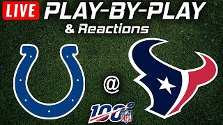 Colts vs Texans |  Live Play-By-Play & Reactions