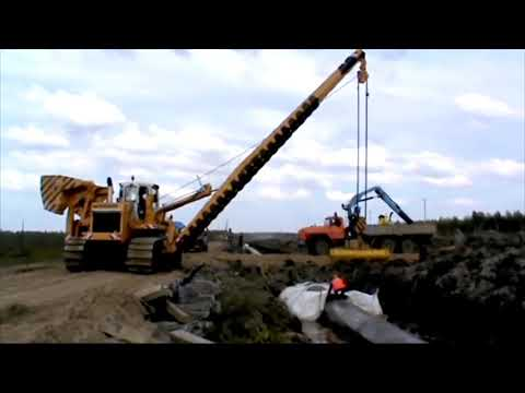 Amazing Gas Pipeline Installation And Construction Machinery Accident And Fails Working
