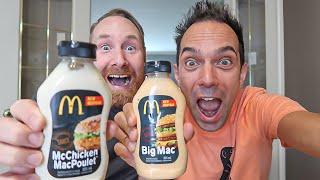 Fab DS teste les bouteilles de sauces McDonald's du Québec