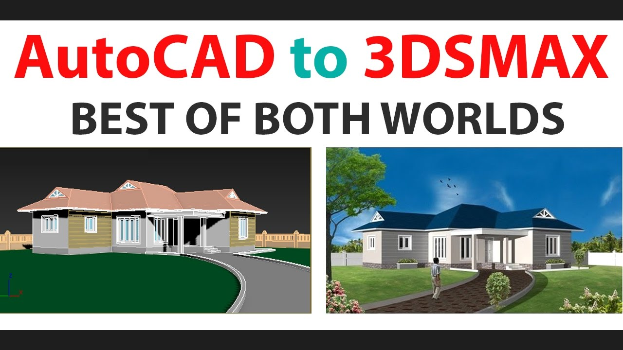 Autocad was used for rendering the remaining images - 3dsmax Rendering Part1 Importing Autocad Model To 3dstudio Max Youtube