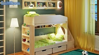 видео Двухъярусные кровати для детей и подростков: как сделать их своими руками