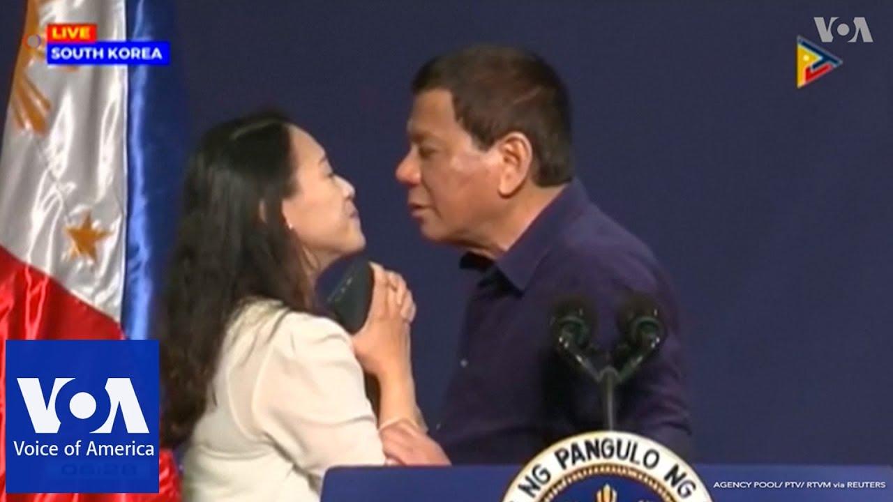 Duterte Slammed for Kissing Filipina Before Huge Audience