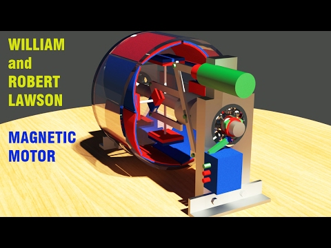 Free Energy Generator, William and Robert Lawson Permanent Magnet Motor