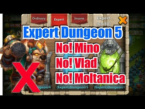 Castle Clash : Expert Dungeon 5 Complete Guide ☆ Without Minotaur ☆