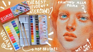 LUKAS STUDIO WATERCOLOR REVIEW + ALLA PRIMA PAINTING WITH WATERCOLORS