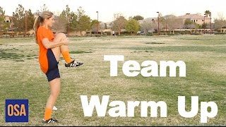 How to Do a D1 College Soccer Team Warm Up