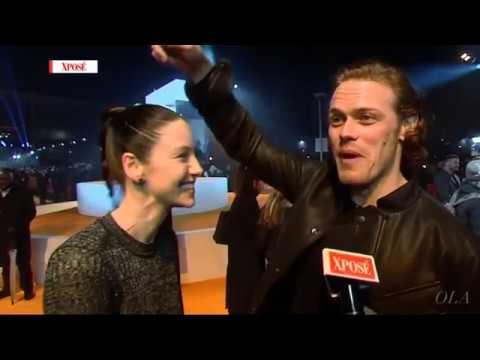 Outlander   Interview ~ Caitriona Balfe & Sam Heughan @ T2 Trainspotting Premiere [Xposé]