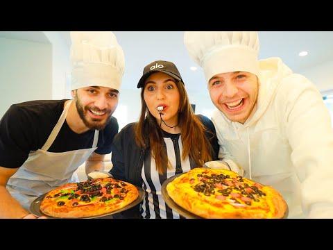 تحدي الطبخ: انا ضد انس و اصالة الحكم🍕 (دمرنا المطبخ) - Osama Marwah I اسامة مروة