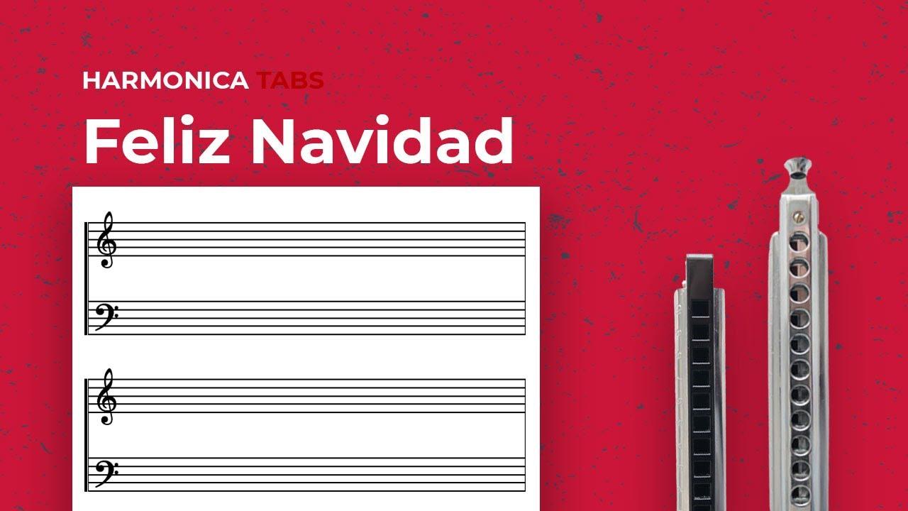 Christmas harmonica songs: Feliz Navidad (C Diatonic Harmonica)
