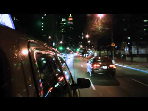 NYC Taxi at night Full HD