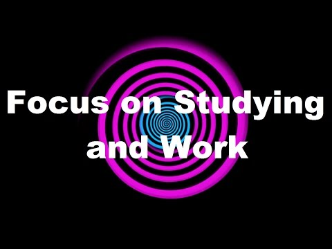 Hypnosis: Focus on Studying and Work (Request)