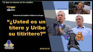 """""""¿Usted es un  títere y Uribe su titiritero?"""" Darío Arizmendi cuestiona a Iván Duque. En Movimiento."""