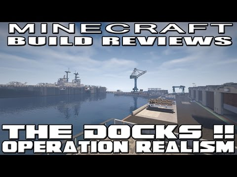 Minecraft Shipping, Military, and Dry Dock Area (Operation Realism Reviews)