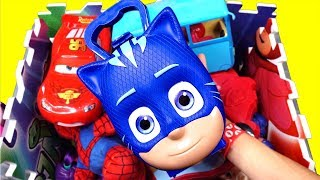 Learn Colors with Pj Masks Characters Peppa Pig Trolls Dora the Explorer Toys for Kids