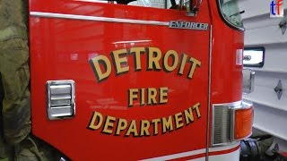 Detroit Fire Department Inhouse Visit E-50, L-23, M-15, C-9, 2014.
