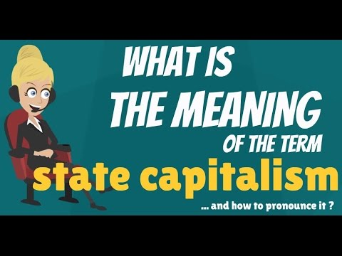 What is STATE CAPITALISM? What does STATE CAPITALISM mean? STATE CAPITALISM meaning & explanation