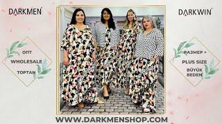 14 06 2021 Часть2 Показ женской одежды больших размеров DARKWIN от DARKMEN Турция Стамбул Опт