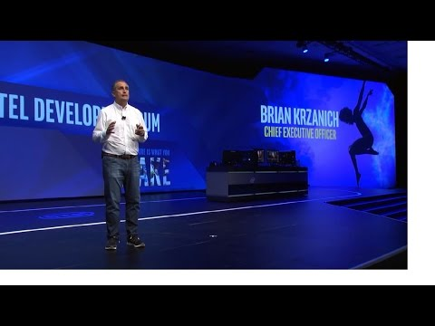Intel CEO Brian Krzanich keynote at Intel Developer Forum 2016