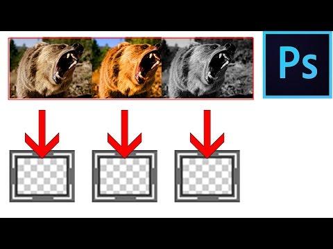 Photoshop CC Автоматическое сохранения слоев в отдельные файлы   Save Layers Into Separate Files