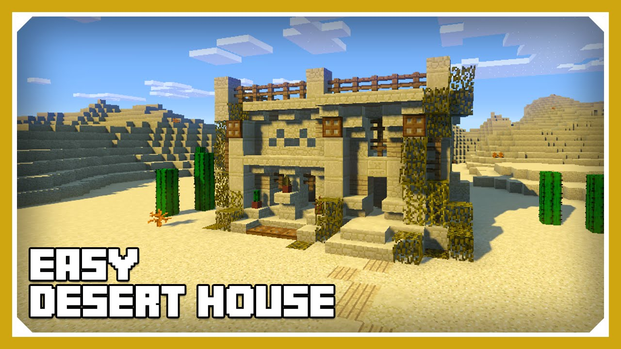 Minecraft how to build a desert house tutorial easy for Build a house online free