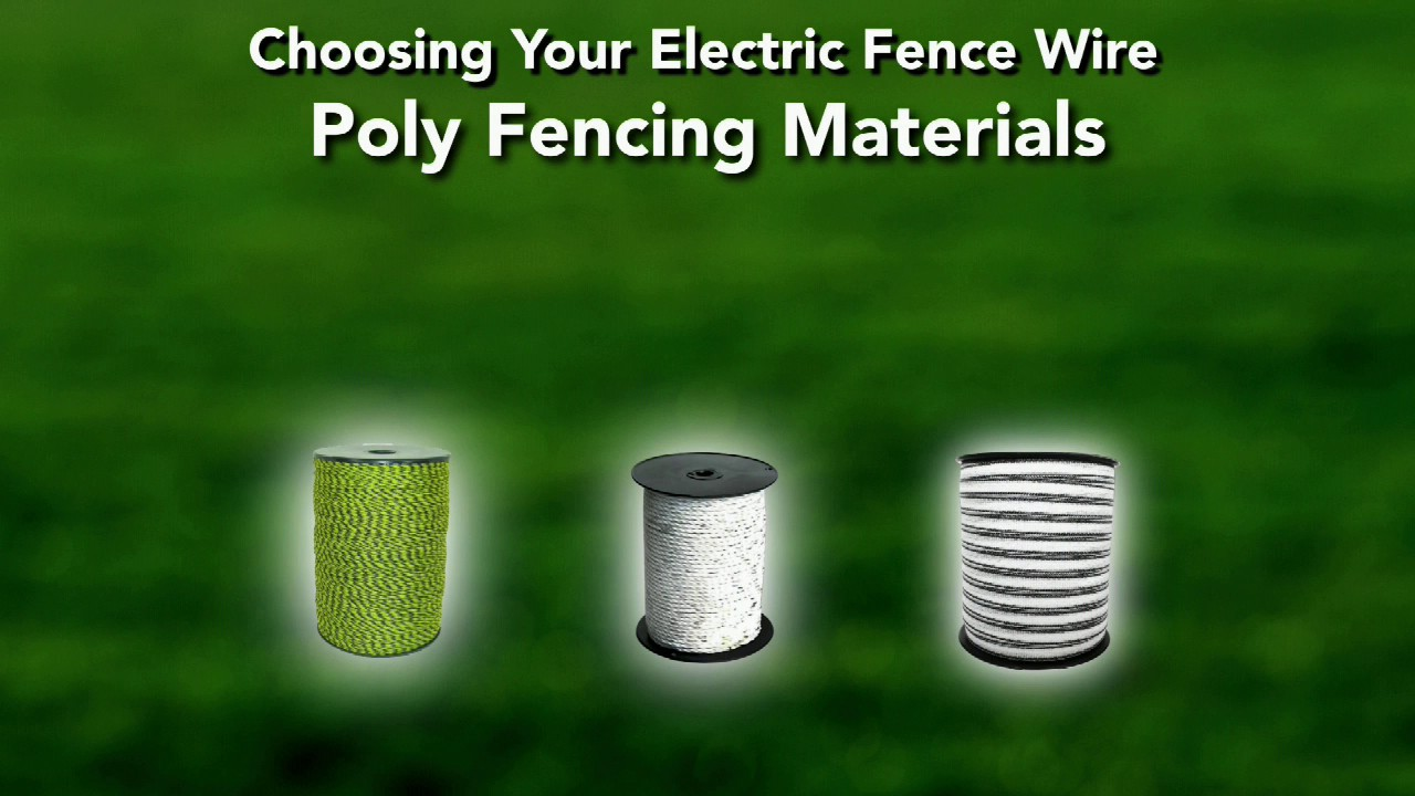 Electric Fence Wire Buying Guide Youtube Wiring