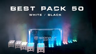 (DEMO) Rockville BEST PACK 50 BLACK & WHITE - 8 Battery Wash with Wireless DMX and Charging Case