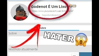 I FOUND A GODENOT HATER ON ROBLOX!!