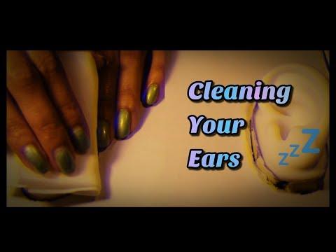 asmr: Cleaning Your Ears 👂💧 DIY Binaural Ear Mic! (No Talking)