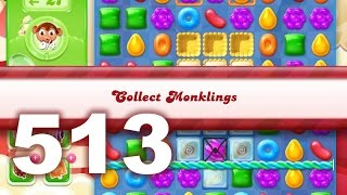 Candy Crush Jelly Saga Level 513 (3 star, No boosters)